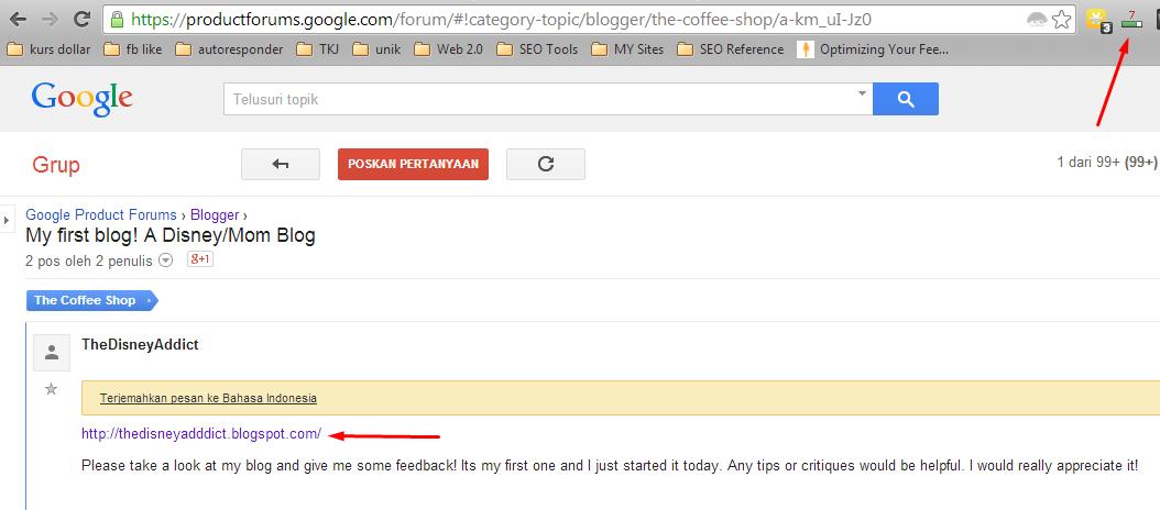 backlink forum google