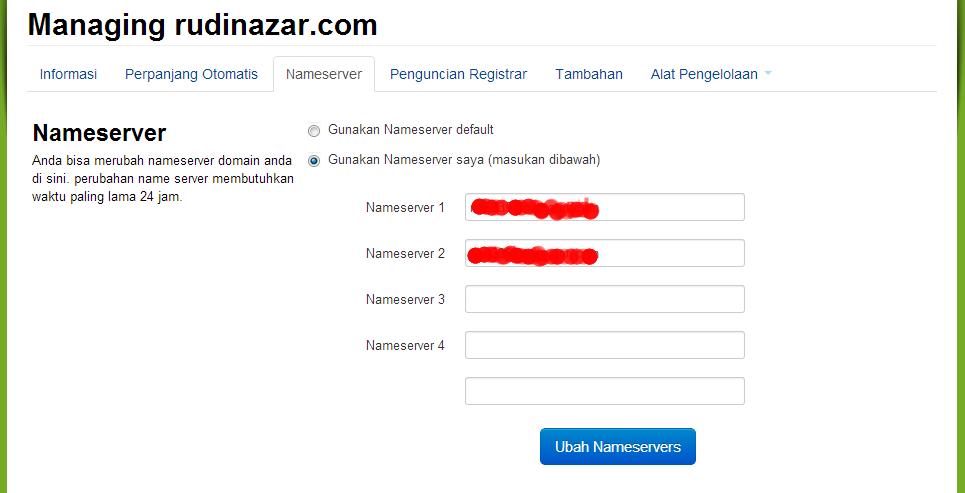 menghubungkan domain dan hosting