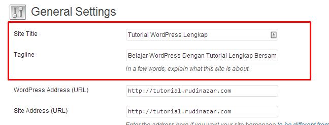 pengaturan umum wordpress