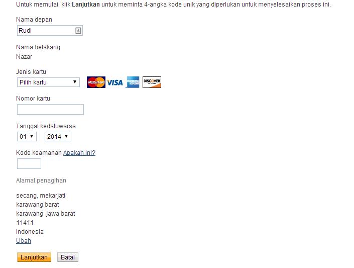verifikasi paypal menggunakan kartu kredit