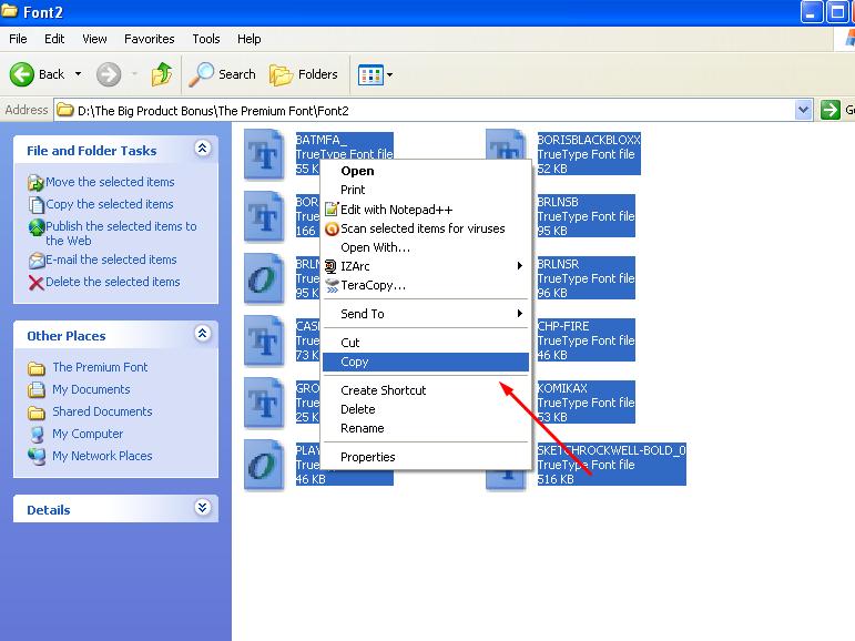Cara Menginstall Font di Windows XP