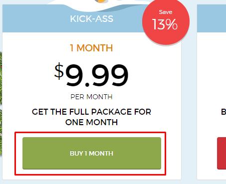 paket 1 bulan HideMyAss