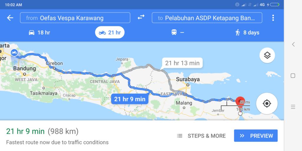 perjalanan dari Karawang ke Lombok