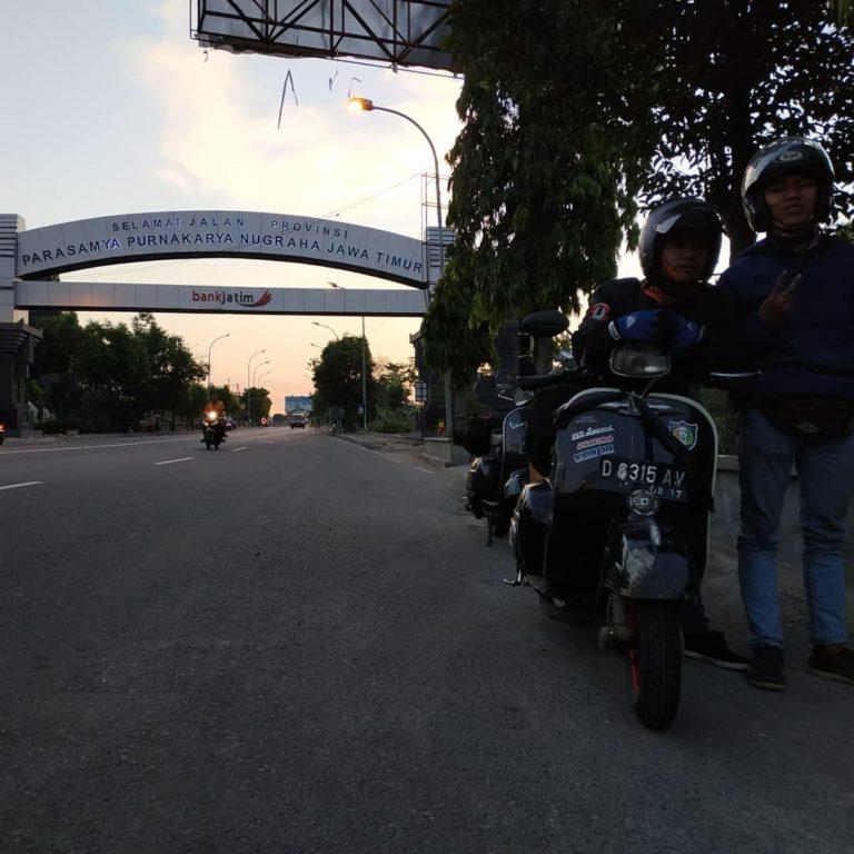 rute naik vespa ke lombok