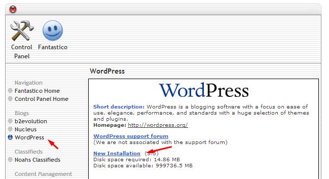 cara menginstall wordpress