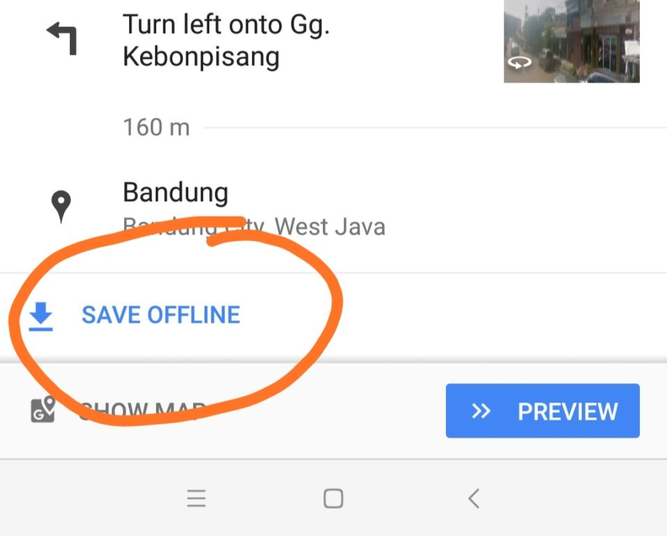 setting Google Map offline
