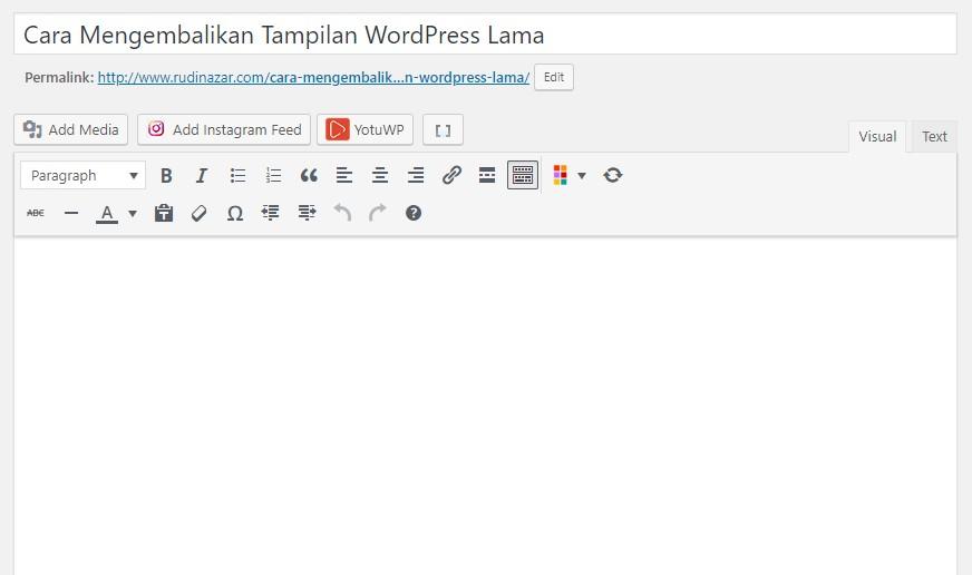 tampilan wordpress lama